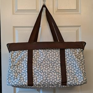 Large Utility Tote w/ matching top - gently used